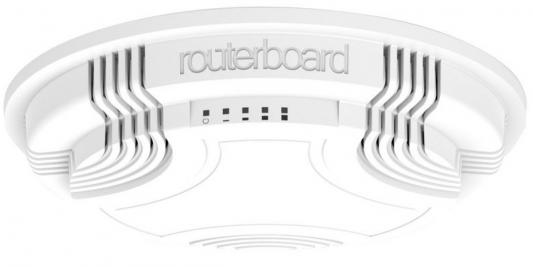 Маршрутизатор MikroTik RBcAP2n 802.11bgn 100Mbps 2.4 ГГц 1xLAN белый