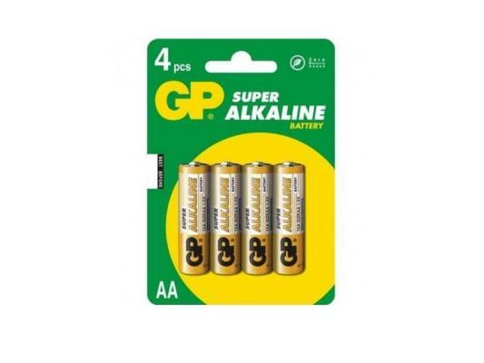 Батарейка GP Super 15A(CR4)-UE4/BC4 AA 4 шт pilot набор стержней для шариковой ручки bps gp цвет черный 12 шт fj gp m b 12