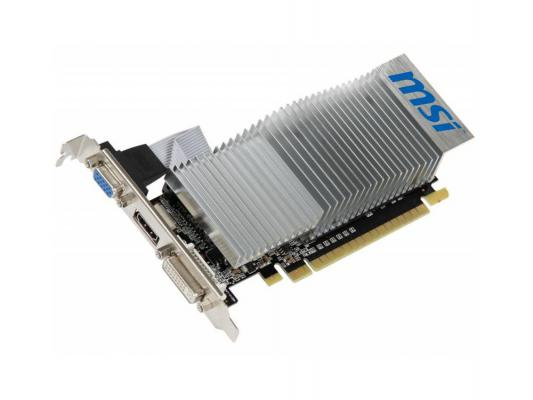 Видеокарта 1024Mb MSI GeForce 210 PCI-E 64bit DDR3 DVI HDMI N210-TC1GD3H/LP Retail