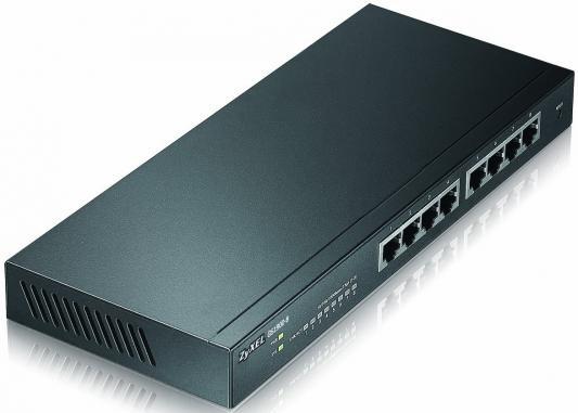 Коммутатор Zyxel GS1900-8 управляемый 8 портов 10/100/1000Mbps коммутатор zyxel gs1100 16 gs1100 16 eu0101f