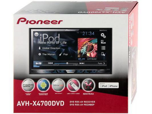 """Автомагнитола Pioneer AVH-X4700DVD 7"""" 800х480 USB MP3 CD DVD FM RDS 2DIN 4x50Вт черный"""