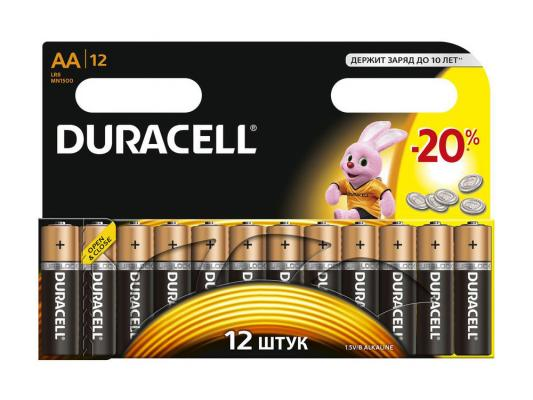 Батарейки Duracell Basic AA 12 шт LR6-12BL car door step courtesy welcome light projector laser logo light ghost shadow puddle emblem spotlight drop for hello kitty