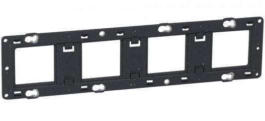 Суппорт Legrand Mosaic/Celiane 4-местный 10 модулей черный 80254