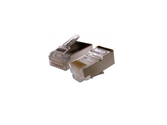 Упаковка коннекторов RJ-45 FTP 5e 8P8C 100шт упаковка коннекторов rj 45 ftp 6 8p8c 100шт