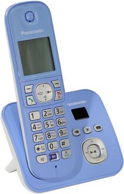 Радиотелефон DECT Panasonic KX-TG6821RUF синий радиотелефон dect panasonic kx tg6821ruf синий