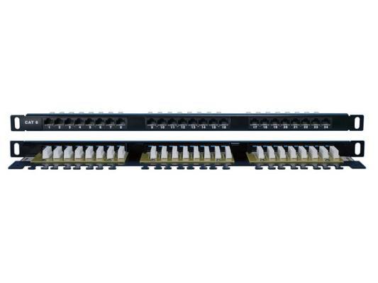 """Патч-панель Hyperline PPHD-19-48-8P8C-C6-110D высокой плотности 19"""" 1U 48 порта RJ-45 категория 6 Dual IDC"""