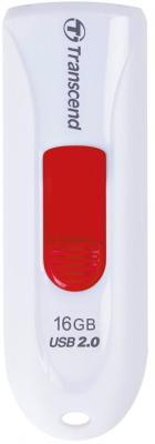 Флешка USB 16Gb Transcend JetFlash 590 TS16GJF590W белый флешка usb 16gb transcend jetflash 710 ts16gjf710g золотистый