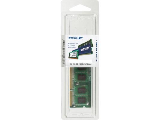 Оперативная память для ноутбуков SO-DDR3 2Gb PC12800 1600MHz Patriot