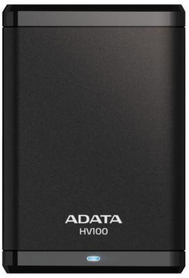 Внешний жесткий диск 2.5 USB3.0 1Tb A-Data HV100 AHV100-1TU3-CBK черный жесткий диск a data classic hv100 1tb usb 3 0 black ahv100 1tu3 cbk