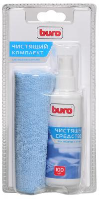 Набор для ухода за техникой BURO BU-S/MF 100 мл чистящий набор buro bu s mf для экранов и оптики блистер микрофибра спрей 100мл