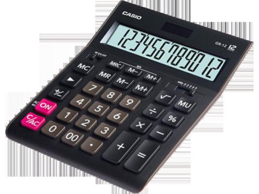 Калькулятор Casio GR-12 12-разрядный черный