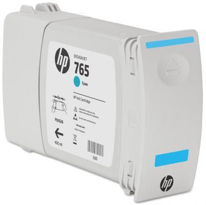 Картридж HP F9J52A №765 для HP Designjet T7200 голубой 400мл картридж hp f9j53a 765 для hp designjet t7200 серый 400мл