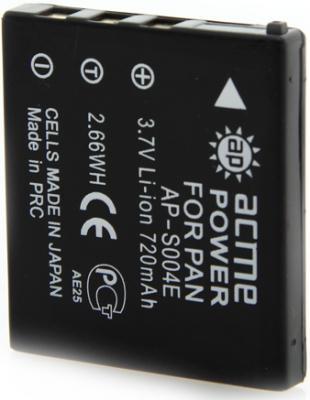 Аккумулятор AcmePower AP-S004E для фотокамеры PANASONIC аккумулятор для фотоаппарата acmepower ap nb 8l