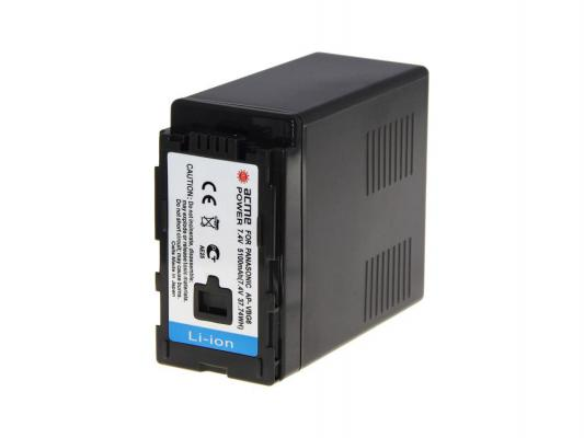 Аккумулятор AcmePower AP-VBG-6 для видеокамеры PANASONIC все цены