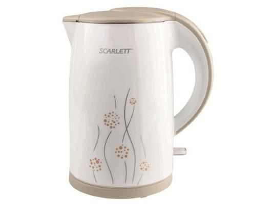 Чайник Scarlett SC-EK21S08 2150Вт 1.7л пластик белый с рисунком игровой набор hasbro nerf мега 20 стрел которые подходят к любому бластеру серии мега b0085
