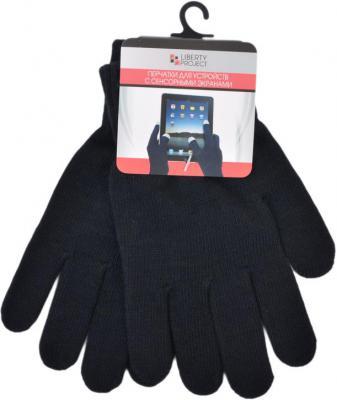Перчатки для работы с сенсорными дисплеями LP 3 пальца S черный 9001