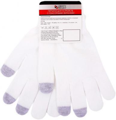 Перчатки для работы с сенсорными дисплеями LP 3 пальца М белый 9001