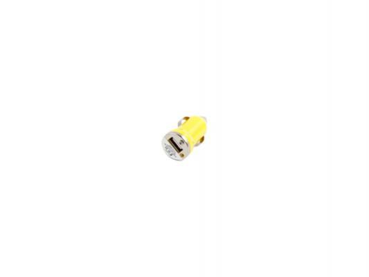 Автомобильное зарядное устройство LP USB 1А желтый