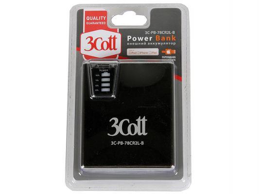 Портативное зарядное устройство 3Cott 3C-PB-78CR2L-B 7800mAh с картридером и двойным светодиодным фонариком