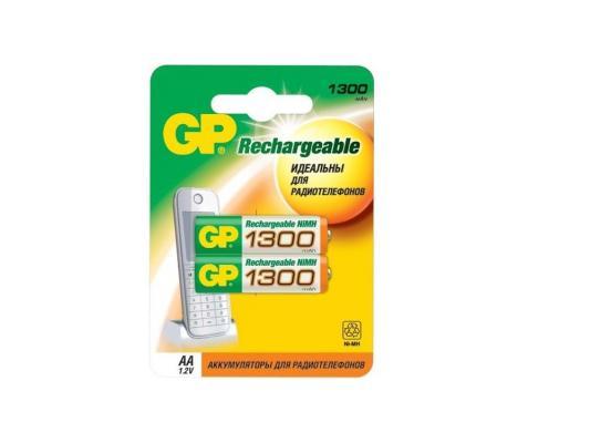 Аккумулятор 1300 mAh GP 130AAHC-2CPCR2 AA 2 шт аккумулятор 650 mah gp 65aaahc 2cpcr2 aaa 2 шт