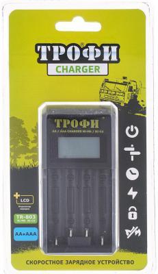 Зарядное устройство ТРОФИ TR-803 LCD скоростное AA/AAA