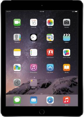 "Планшет Apple iPad Air 16Gb Cellular 9.7"" 2048x1536 A7 1.3GHz GPS IOS Space Gray темно-серый MD791RU/B"
