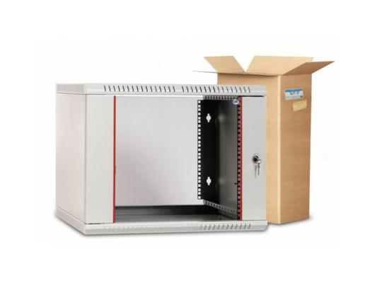 Шкаф настенный разборный 9U ЦМО ШРН-Э-9.500 600х520mm дверь стекло серый