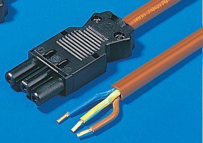 Кабель для электропитания Rittal с розеткой без вилки 3000мм 5шт