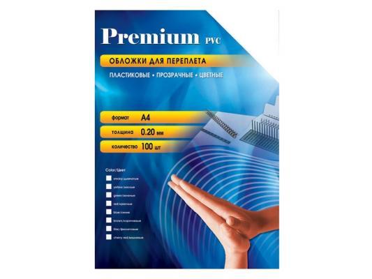 Обложки Office Kit PBA400200 А4 0.20мм прозрачный синий 100шт