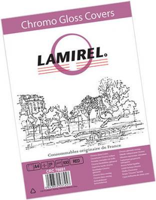 все цены на Обложка для переплетов Fellowes Lamirel A4 250г/м2 красный 100шт LA-7869101 онлайн