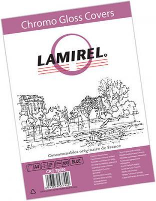 все цены на Обложка для переплетов Fellowes Lamirel A4 250г/м2 синий 100шт LA-7869001 онлайн