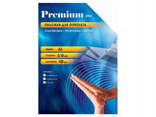 Обложки Office Kit  PSA300180 А3 0.18мм прозрачный дымчатый 100шт