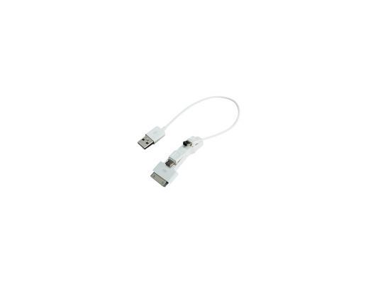������������� �������� ���������� Gembird A-USBTO14B microUSB miniUSB 30-pin Apple �����