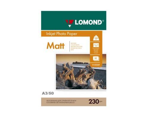Бумага Lomond A3 230г/кв.м односторонняя матовая 50л 0102156