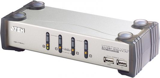 Переключатель KVM ATEN CS1734AC-AT удлинитель kvm aten ce604