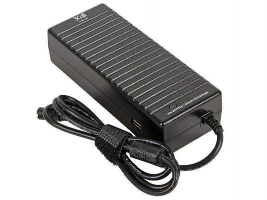 Блок питания для ноутбука 3Cott 3C-WA120U USB 10 переходников 120Вт
