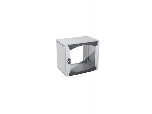 Шкаф настенный 9U Schneider Electric Actassi NSYOPB9U4F 600x485мм дверь стекло серый