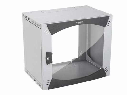 """Шкаф настенный 19"""" Schneider Electric Actassi NSYOPB9U4P с повор. рамой"""