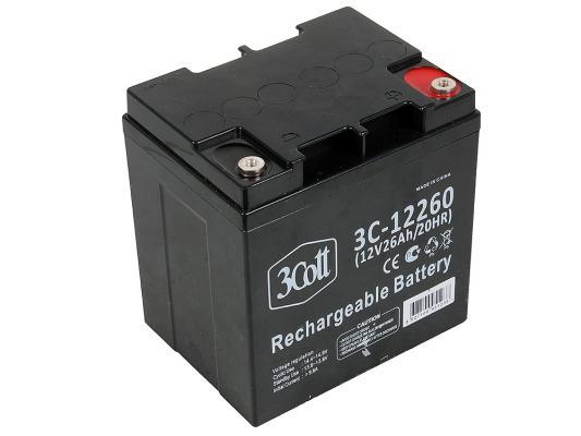 Батарея 3Cott 3C-12260 12V 26Ah/20HR батарея 3cott 3c 1290 5s 12v 9ah