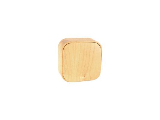 Одноклавишный переключатель Quteo 10A дерево 782264 выключатель двухклавишный наружный бежевый 10а quteo