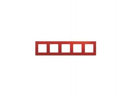 Рамка Legrand Etika 5 поста красный 672535