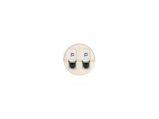 Лицевая панель Legrand Celiane для розетки 2хRJ45 белый 68252