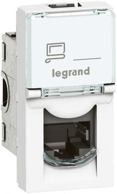 Розетка Legrand Mosaic RJ45 FTP кат.5e 1 модуль LCS2 76552