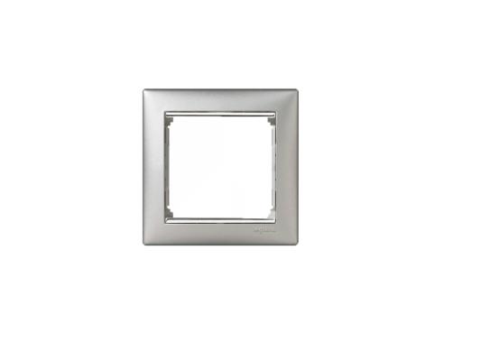 Рамка Legrand Valena 1 поста алюминий серебряный штих 770351