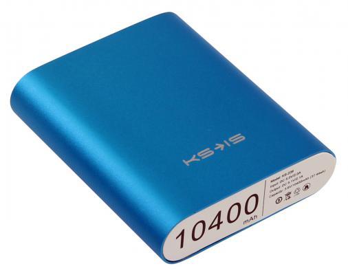 Портативное зарядное устройство KS-is KS-239 Blue 10400мАч USB 3 адаптера синий