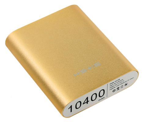 Портативное зарядное устройство KS-is KS-239 Gold 10400мАч USB 3 адаптера золотистый