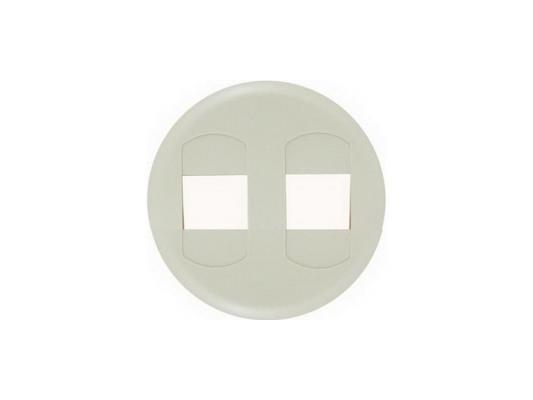 Лицевая панель Legrand Celiane для розетки для колонок двойных слоновая кость 66241