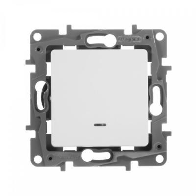 Выключатель Legrand ETIKA с подсветкой 10АХ белый 672203