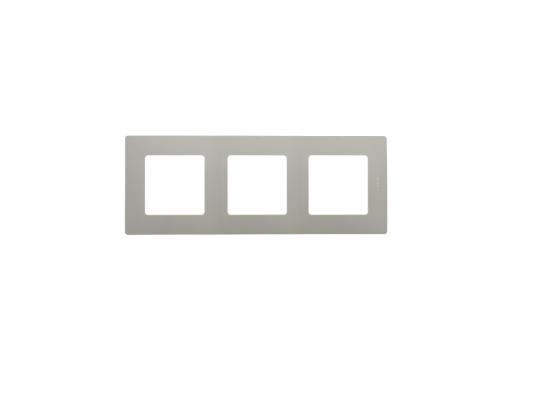 Рамка Legrand Etika 3 поста серый 672523