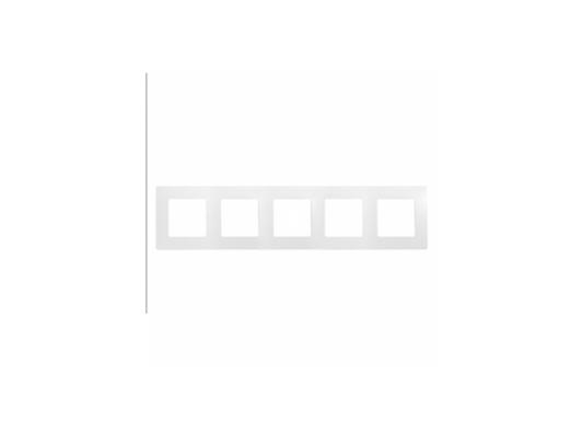Рамка Legrand Etika 5 постов белый 672505 gira gira esp glass c салатовое стекло рамка 5 ая 0215518